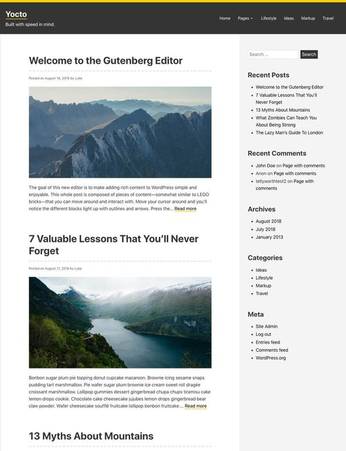 Yocto WordPress Theme screenshot