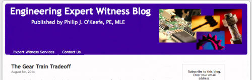 Engineering Expert Witness Blog