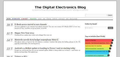 The Digital Electronics Blog