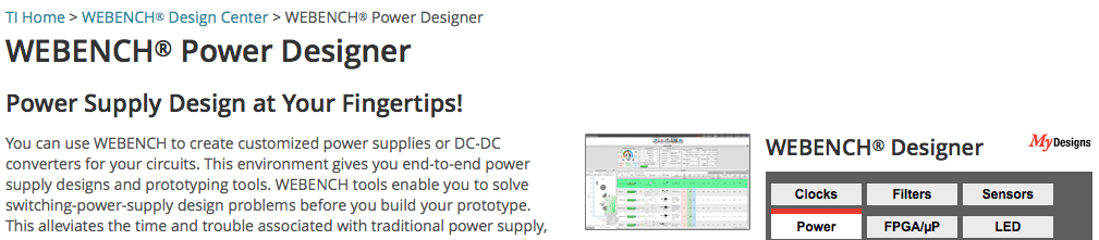 WEBENCH® Power Designer