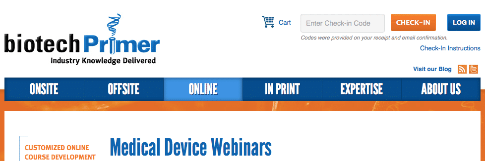 Medical Device Webinars