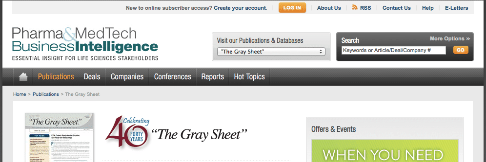 The Gray Sheet