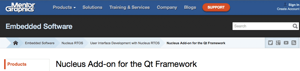 Nucleus Add-on for the Qt framework