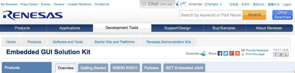 Renesas Embedded GUI Solution Kit