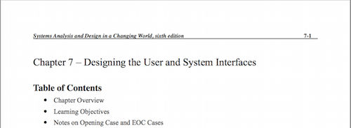 Chapter 7 - Designing the User and System Interfaces