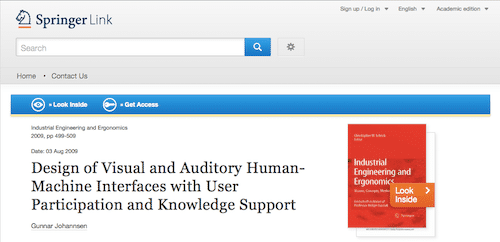 Design of Visual and Auditory Human-Machine Interfaces with User Participation and Knowledge Support
