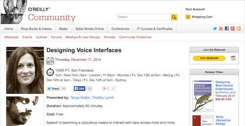 Designing Voice Interfaces