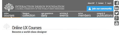 Interaction Design Online UX Courses
