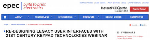 Re-Designing Legacy User Interfaces With 21st Century Keypad Technologies Webinar