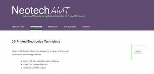 Neotech AMT 3D Printed Electronics Technology
