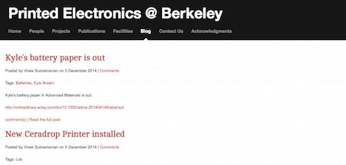 Printed Electronics @ Berkeley