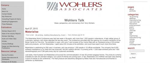 Wohlers Talk