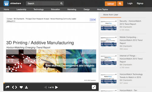 3D Printing:Additive Manufacturing HorizonWatching Emerging Trend Report