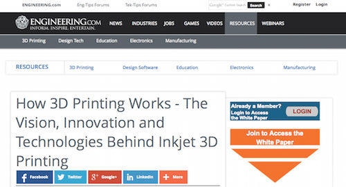 How 3D Printing Works - The Vision, Innovation and Technologies Behind Inkjet 3D Printing