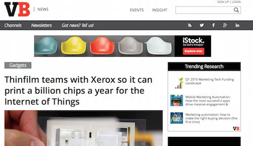 Thinfilm teams with Xerox so it can print a billion chips a year for the Internet of Things