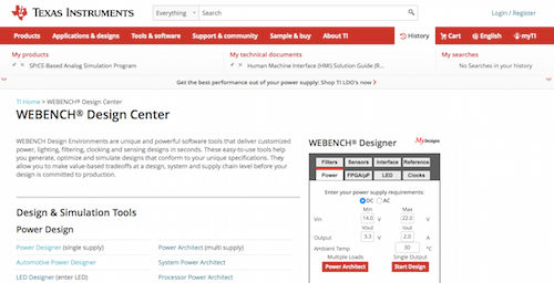 WEBENCH Design Center
