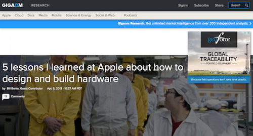 5 Lessons I Learned at Apple About How to Design and Build Hardware