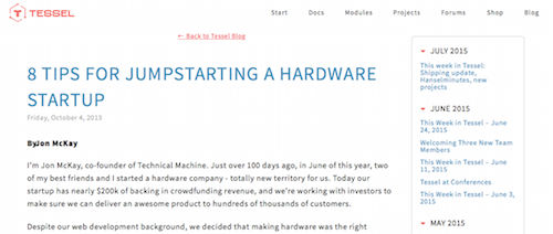 8 Tips for Jumpstarting a Hardware Startup