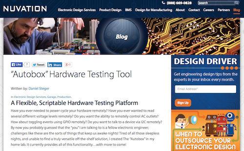 Autobox Hardware Testing Tool