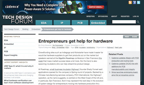 Entrepreneurs Get Help for Hardware