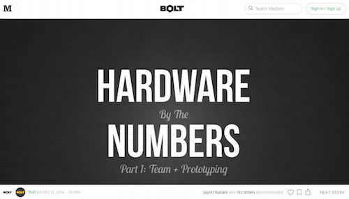 Hardware By the Numbers Part 1 Team + Prototyping