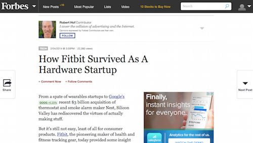 How Fitbit Survived As a Hardware Startup