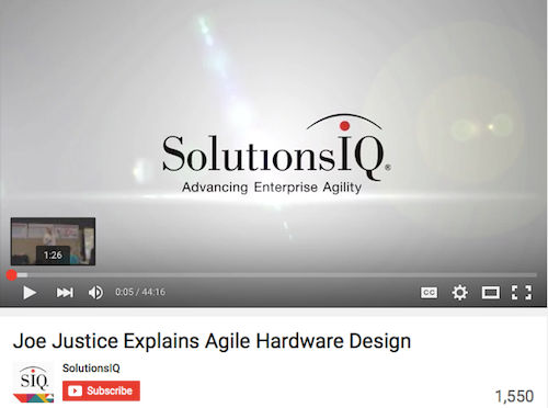 Joe Justice Explains Agile Hardware Design
