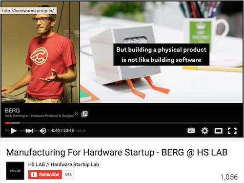 Manufacturing For Hardware Startup - BERG @ HS LAB