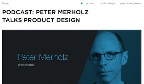 Podcast Peter Merholz Talks Product Design