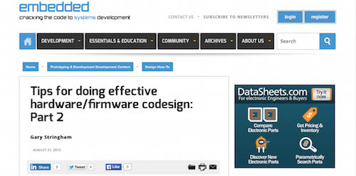 Tips for Doing Effective Hardware:Firmware Codesign Part 2