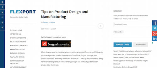 Tips on Product Design and Manufacturing