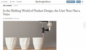 In the Shifting World of Product Design the User Now Has a Voice