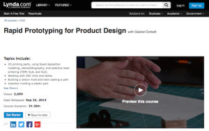 Rapid Prototyping for Product Design with Gabriel Corbett