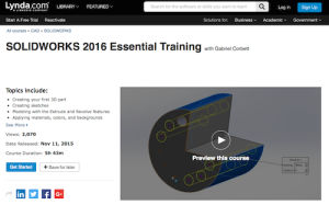 SOLIDWORKS 2016 Essential Training with Gabriel Corbett