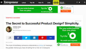The Secret to Successful Product Design Simplicity