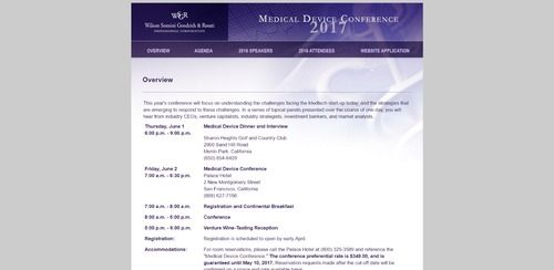 WSGR Medical Device Conference