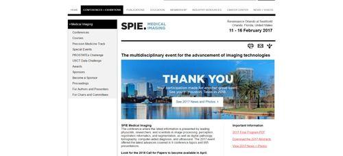 SPIE Medical Imaging 2017