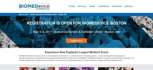 BIOMEDevice 2017 at Massachusetts Medtech Week