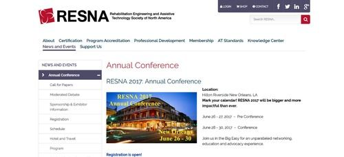 2017 RESNA/NCART Conference