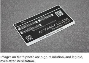 metalphoto label