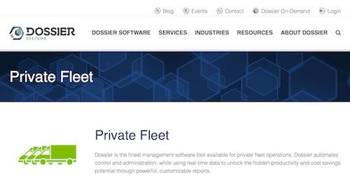 Dossier Systems Fleet Management Software for Private Fleet