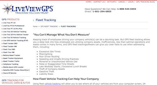 LiveViewGPS Fleet Tracking