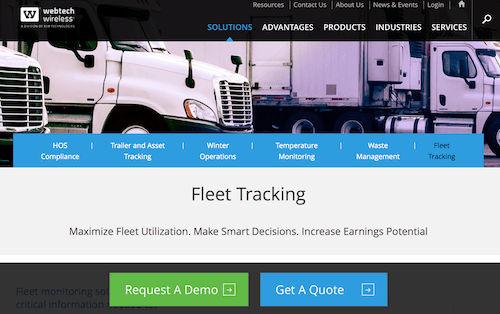WebTech Fleet Tracking