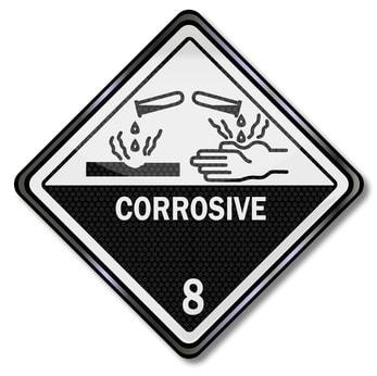 Corrosive Materials Warning Sign