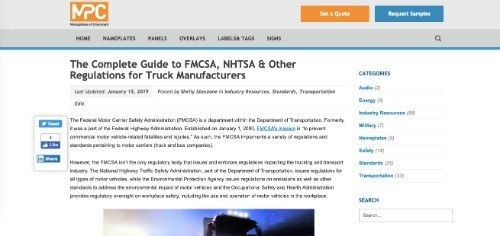 The Complete Guide to FMCSA, NHTSA & Other Regulations for Truck Manufacturers