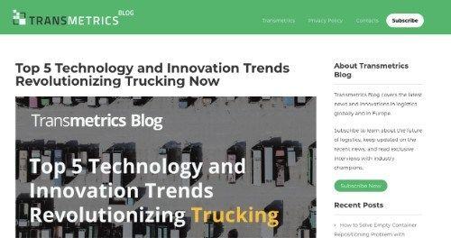 Top 5 Technology and Innovation Trends Revolutionizing Trucking Now