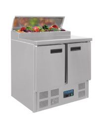 Polar rvs pizza/sandwich counter 2-deurs