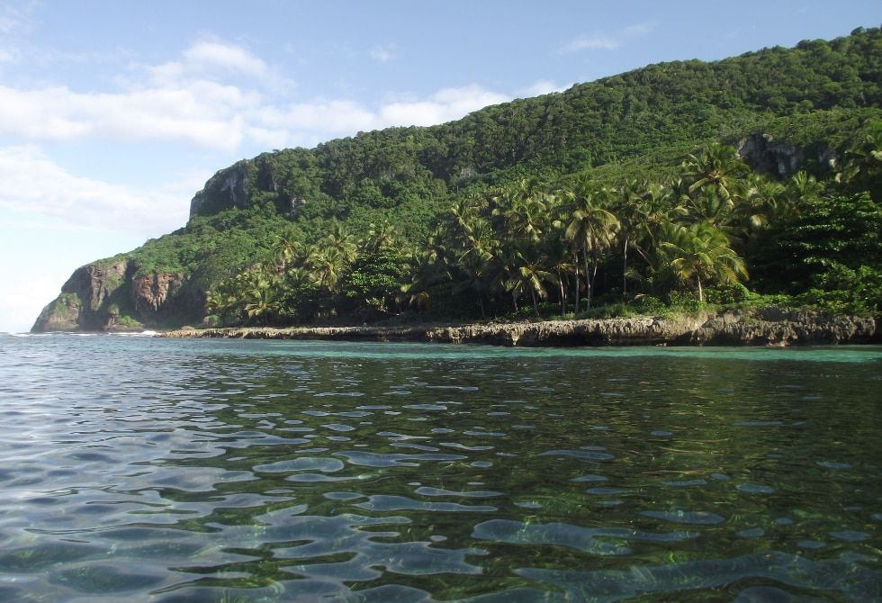 To get to Playa Fronton, you must do it by boat or on foot.