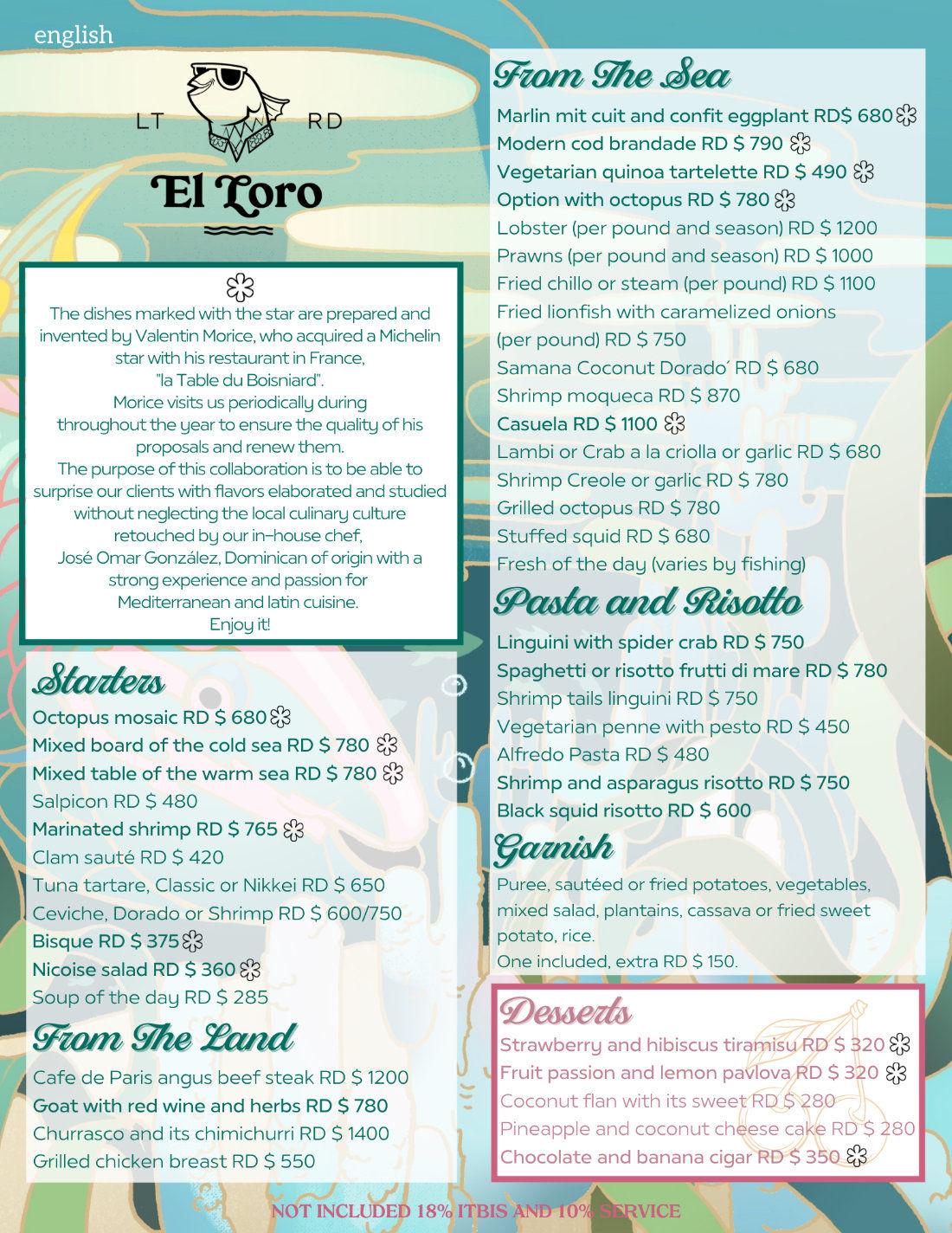 Menu English con Valentin El Loro Mayo 2021