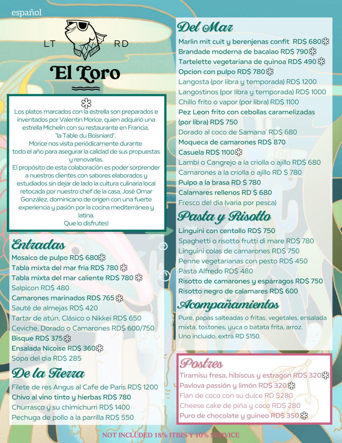 Menu con Valentin El Loro Mayo 2021